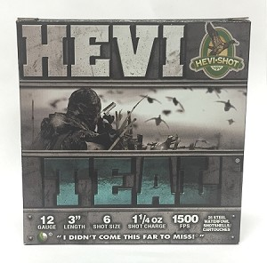 "HEVI-SHOT Hevi-Teal 12ga 3"" 1-1/4oz #6 Shot Steel"