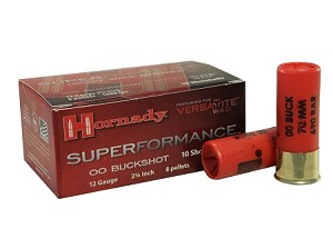 "Hornady Superformance 12ga 2-3/4"" 00-Buckshot"