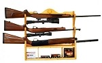 Hunter's Specialties 3 Gun Rack with Shelf (Albus Wood)