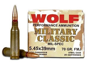Wolf Military Classic 5.45x39mm 60gr FMJ
