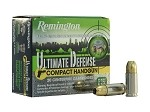 Remington Ultimate Defense Compact Handgun 38 SPL +P 125gr BJHP