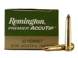 Remington Premier 22 Hornet 35gr ACCUTIP-V BT