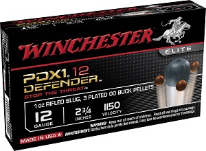 "Winchester Defender 12 Gauge 2.75"" 1 oz Slug/3 Pellets 00 Buck Shot (Missing 1 Only 9 Rnds)"