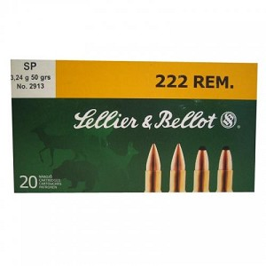Sellier & Bellot 222 Rem 50gr SP
