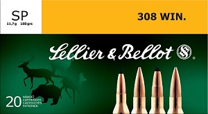 Sellier & Bellot 308 Win. 180gr SP