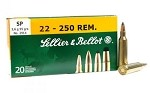 Sellier & Bellot 22-250 Rem 55gr SP