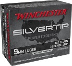 Winchester 9mm Luger 147gr Silvertip Hollow Point (STHP)