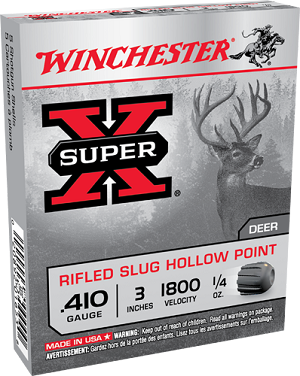 "Winchester Super-X .410ga 3"" 1/4oz. Rifled Slug HP"